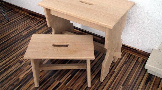holzhocker holzhandwerk laa otto holemar. Black Bedroom Furniture Sets. Home Design Ideas